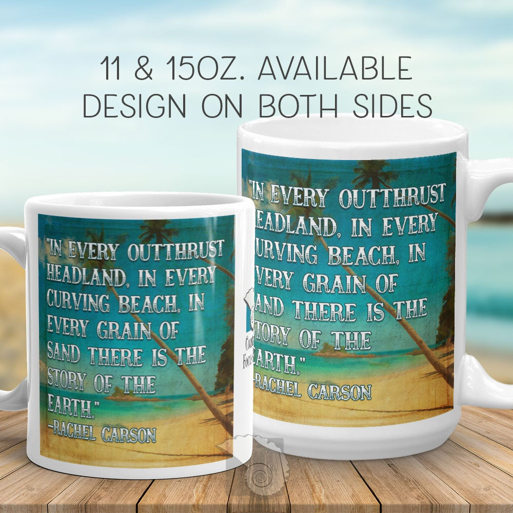 In Every Outthrust Headland Quote Mug Coastal Focus Art